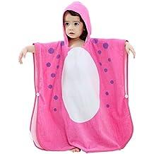 Albornoz para Niñas Niños - Bebé Toalla de Baño con 100% Algodón Capucha Animal de