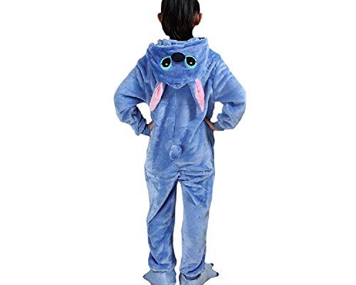 lay Onesie Stitch L Größe Jumpsuits Pyjama Mädchen Jungen Halloweenkostüm (Stitch Kostüm Disney)
