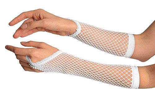 YPS Damen Fischernetz Handschuhe (70er Jahre Kostüme Für Paare)
