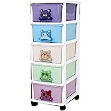 TheTickleToe Chest of Drawers for Kids 34L x 44W x 95H CMS No Lock (Multi)