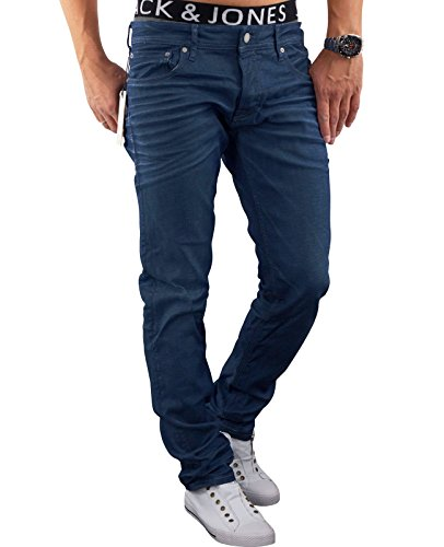 JACK & JONES Herren Jeanshose Jjitim Jjoriginal Am 012 Lid Noos (32W / 30L, Blau (Blue Denim Fit:SLIM jjiTIM 520)) (5-pocket-jeans Jugendliche)