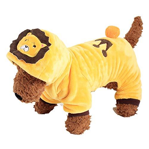 Kostüm Dog Xl Lion - BESTOYARD Dog Lion Kostüm Entzückende Welpen Kleidung Lion Style Hoodie Weiche und Bequeme Overalls für kleine Hunde (XL)