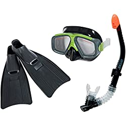 INTEX 55959 Surf Rider Kit de plongée Tuba, Masque et Palmes Taille Adulte