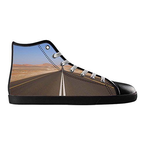 Dalliy sch?ne w¨¹stenlandschaft Men's Canvas shoes Schuhe Lace-up High-top Sneakers Segeltuchschuhe Leinwand-Schuh-Turnschuhe D