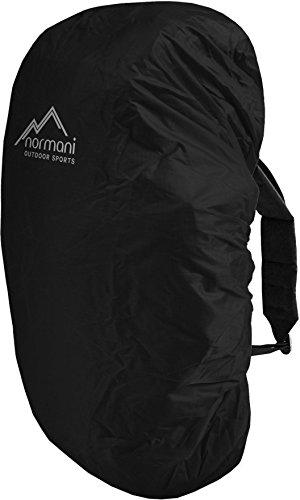 normani wasserdichter Regenueberzug Raincover Regenhülle für Backpacks Rucksack Farbe Schwarz Größe 80-90 Liter