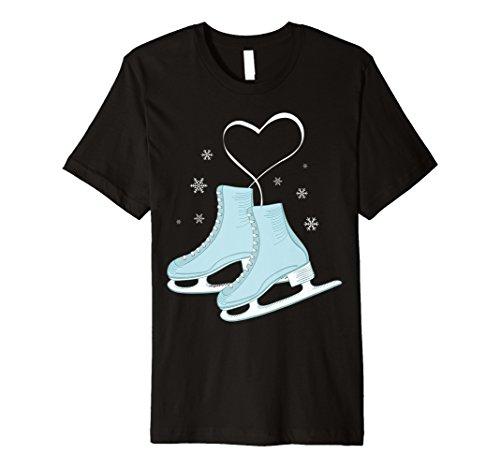 Figur Eislaufen Herz TShirt–Eiskunstläufer Love Geschenk