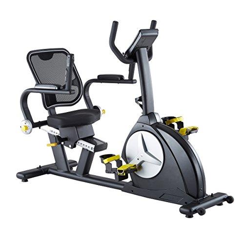 MAXXUS® Liege-Ergometer 6.1R-FIT - Reha Bike mit 5 Jahren Garantie! Auch für Senioren geeignet. Optimaler Gleichlauf. Sichere Arretierung der Füße durch große Fußschale, Netz-Rückenlehne für Belüftung des Rückens, Transportrollen, Trainingsprogramme, HRC-Programm.