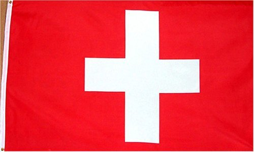 "Country Flags ""S-T"" 3 ft x 5 ft Flagge Schweiz – Polyester – Online-Shops – 3 x 5 – Poly Schweizer Flagge"