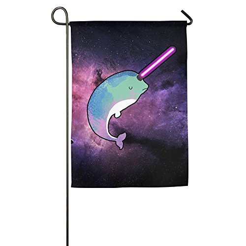 nuohaoshangmao Garden Flag Narwhal Bright Sea Animal Decorative Flags Cool - Race-flaggen-shirt