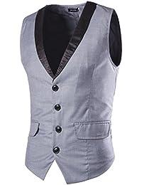 LIANIHK Chaleco Hombre Sin Mangas Básico blazers Ropa de abrigo