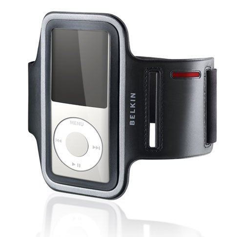 Belkin Dual Fit Armband (Belkin Bracelet Dual Fit (geeignet für Apple iPod Nano 4G) schwarz/grau)