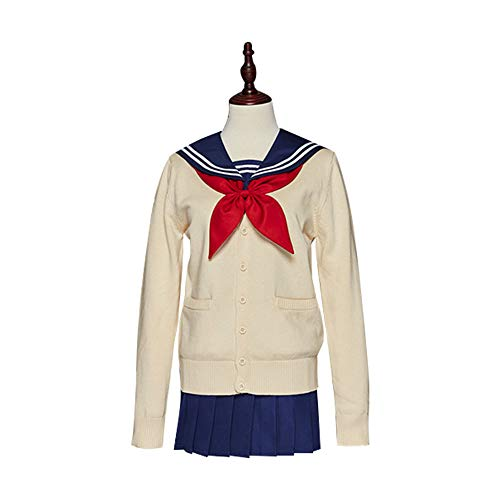 Kostüm Toga Weiblich - I TRUE ME Himiko Toga Cosplay Kostüm My Hero Academia Sweater Sailor Kleid Oufit Anime JK Uniform,M