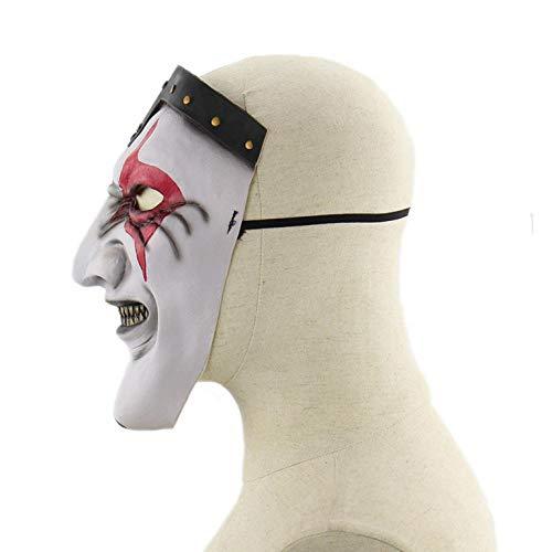 Kostüm Gesicht Halloween Reißverschluss Voller - wnddm Halloween Horror Kostüm Party Requisiten Band Masken Reißverschluss Mund Terror Zombie Maske Kostüm Latex Maske für Erwachsene