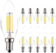 MODI E14 Candle Bulb, 40 Watt Equivalent LED Filament Light Bulbs, Non-Dimmable Soft Warm White 2700K Classic