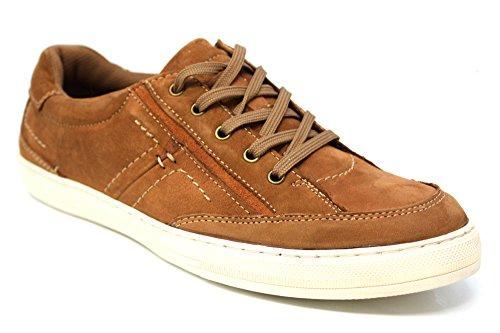 Mr Shoes , Baskets mode pour homme Marron marron 16 peau