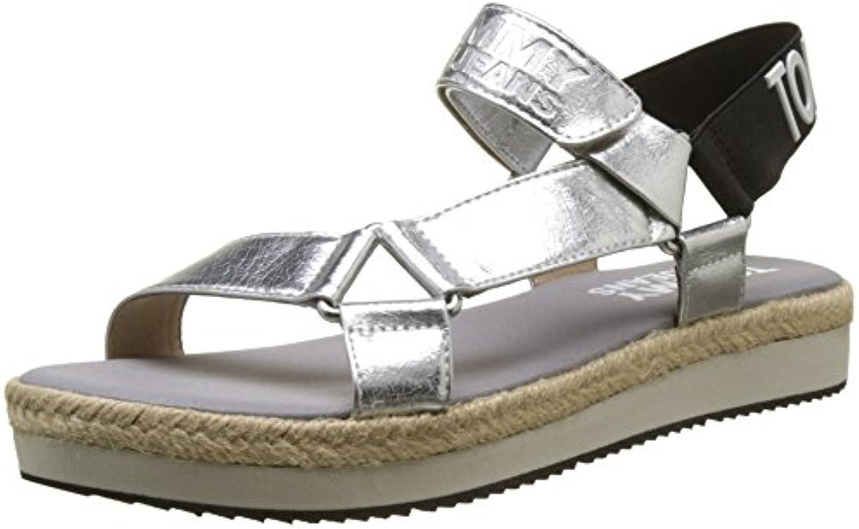 Hilfiger Hilfiger Hilfiger Denim Fresh Modern Metallic, Sandali con Cinturino alla Caviglia Donna | Moda moderna ed elegante  | Uomo/Donna Scarpa  325a3f
