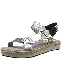 Hilfiger Denim Damen Fresh Modern Metallic Sandal Slingback