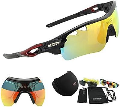 Duco Lente polarizada marco de de sol deportivas para la caja de protección UV400 Hombre por Aire libre Gafas de sol cuidado de la visión de protección