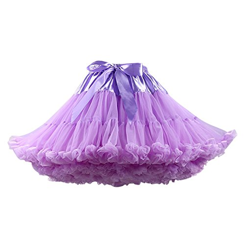Caissen Damen Elastisch Puffy Tüll Tütü Röcke Petticoat Ballett Blase Ballkleid Bowknot...