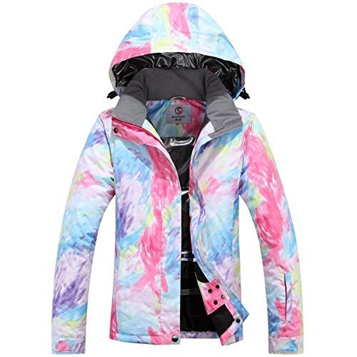 WEATLY Womens Ski Anzüge Ski Jacket Women Snowboard-Jacke Hosen Winter Ski-Anzug wasserdichte im Freien Günstige Damen (Farbe : J1, Size : L)