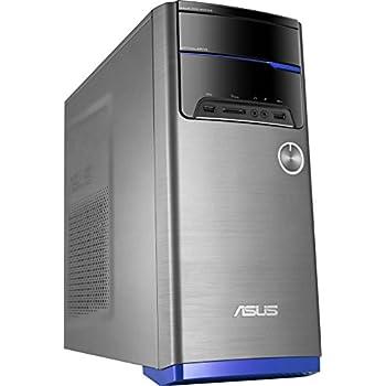 ASUS M32CD-SP022T - Ordenador de sobremesa (Intel Core i5-6400, RAM de 4 GB, 500 GB HDD, Intel HD Graphics 530) gris con barra azul - Teclado QWERTY Español y ratón