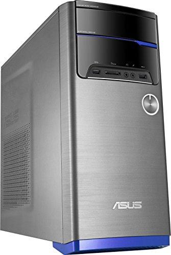 ASUS M32CD-SP022T - Ordenador de sobremesa (Intel Core i5-6400, RAM de 4 GB, 1 TB HDD, Intel HD Graphics 530) Gris con Barra Azul - Teclado QWERTY Español y ratón