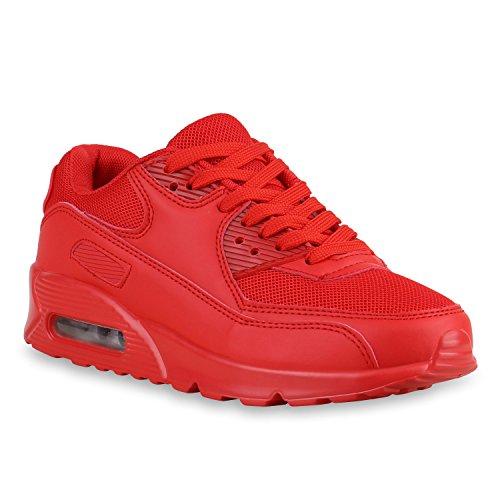 Damen Sportschuhe Trendfarben Laufschuhe Sneakers Runners Rot