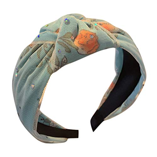TMOTYE Damen Haarband Sommer,❀Frauen SchöNer Haarbänder Lace Pailletten Stirnband Creative breitkrempigen Kopfbedeckungen Accessoires Stirnband - Plunge Halter Kleid
