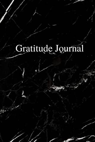 Gratitude Journal - Black Marble Cover: (6 x 9) Personalized