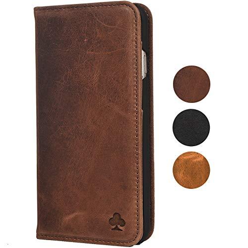 Porter Riley - Custodia per Huawei P30. Custodia/Flip/Cover/Supporto/in Vera Pelle Sottile di Prima qualità. (Marrone Cioccolato)