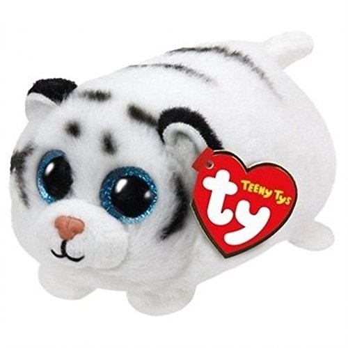 Teeny Ty White Tiger - Zack - 8cm 3""