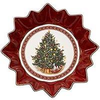 Villeroy & Boch Toy's Fantasy Bol Grande Árbol, Porcelana Premium, Rojo