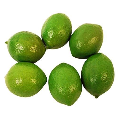 Teydhao 6 Stücke Realistische Simulation Zitrone Künstliche Kunststoff Lemon Gefälschte Obst Restaurant Dekoration Fotografie Requisiten Essen Früchte Home Decor