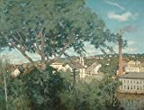 GFM Painting Handgemalte Ölgemälde Reproduktion von The Factory Village 1897,Ölgemälde von Julian Alden Weir - 8 By 10 inches