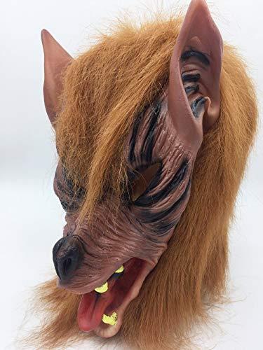 QETU Halloween Tier Maske, Kostüm Party Silikon Wolf Kopf Maske (Black Wolf),B