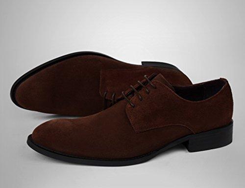 Scarpe Uomo in Pelle Scarpe da uomo nubuck commerciali stile britannico scarpe a punta ( Colore : Caffe'colore , dimensioni : EU44/UK8.5 ) Caffe'colore