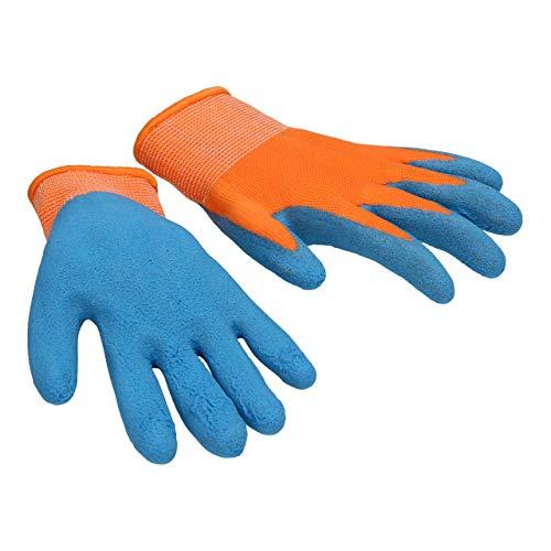 Kinder Hobby Spiel Garten- und Arbeitshandschuhe Kinderhandschuhe (2, Orange)