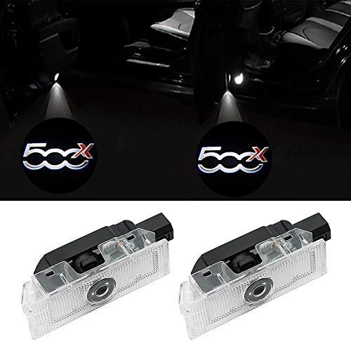 2 pezzi LED Portello Auto Illuminazione Proiettore Porta Lampada Ghost Shadow Luci Benvenute per 500x, 500L e PUNTO-05