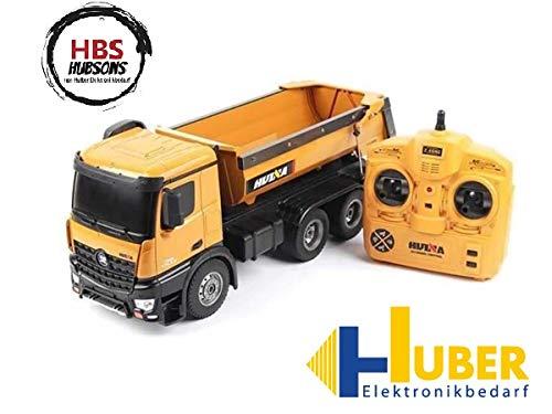 HBS Hubsons® RC 2,4 GHz Muldenkipper Tieflader Truck 1:14 mit kippbarer Ladefläche, Komplettset inkl. Fernsteuerung, Akku und Ladegerät (Rc Tieflader)