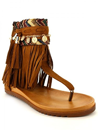 Cendriyon, Tongs Marron BELLE WOMEN Chaussures Femme Marron