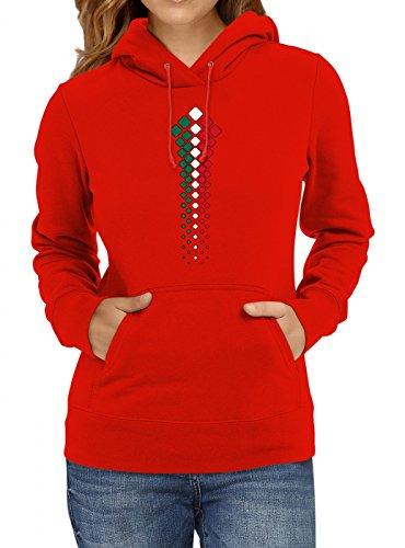 Mexiko Weltmeisterschaft 2018#32 Premium Hoodie Fan Trikot Fußball WM Nationalmannschaft Frauen Kapuzenpullover, Farbe:Rot;Größe:L