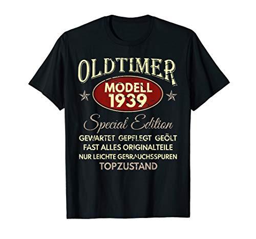 80. Geburtstag Geschenk T-Shirt   Oldtimer Baujahr 1939 -