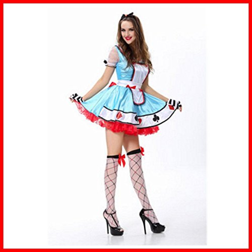 WEII Halloween Kostüme Deutsch Oktoberfest Clown Maid Kostüm Cosplay Prinzessin ()
