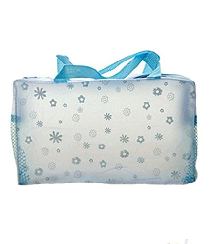 DAYAN Trasparente trucco waterproof Make up Cosmetic Bag toeletta Bathing Pouch Colore Blu