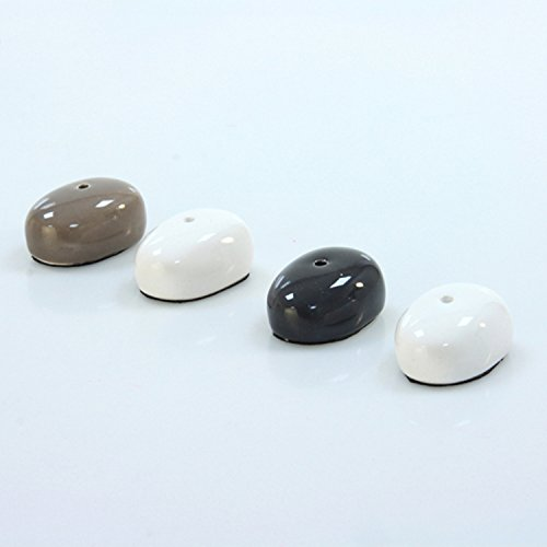Lot de 4supports à encens–Céramique–Blanc, Taupe ou Gris