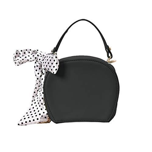 Linkay Neuer HeißEr Verkauf Mode Wild Damen Tasche Wilder Seidenschal Handtasche Messenger Crossbody UmhäNgetasche Rucksack-Schwarz -