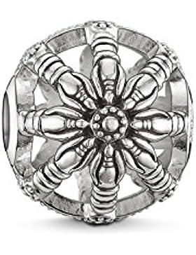Thomas Sabo Damen Herren-Bead Karma Beads Wheel 925 Sterling Silber geschwärzt K0016-001-12