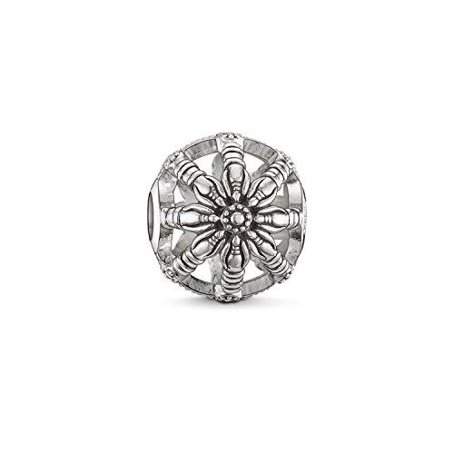 Thomas Sabo Damen Herren-Bead Karma Beads Wheel 925 Sterling Silber geschwärzt K0016-001-12 (Key Mit Charms Herren-armbänder)