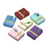 nbeads Schmuckkästchen aus Karton, rechteckig, für Jahrestage, Hochzeiten, Geburtstage, 9 x 7 x 3 cm,, 12 Stück