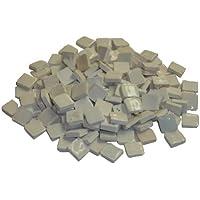 Mosaico de cerámica de Alrededor de 150 Teselas glaseado 10 x 10 mm Colour Blanco